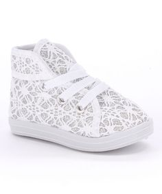 This White Lace Sneaker is perfect! #zulilyfinds