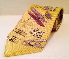 Museum Artifacts Silk Wright Brothers Necktie Tie First Flight Kitty Hawk   eBay
