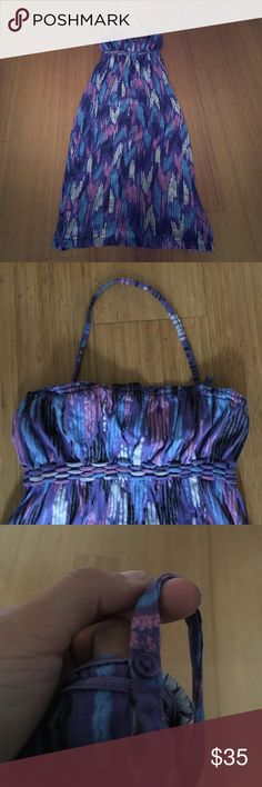 Hurley Multi-Colored Maxi Dress Size M, detachable strap (see pic) ask if you have questions. Hurley Dresses Maxi