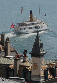 Lausanne, Swiss Travel, Travel Expert, Alpine Lake, France, Rhone, Central Europe, Power Boats, Kirchen
