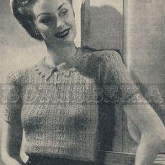 40's & still feminine. ALady. vintage JERSEY knitting pattern 40s PDF by borisbeka on Etsy, $3.50