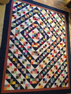 What is your favorite pattern when using scraps?  Bonnie Hunter's pattern Blue Ridge Beauty.