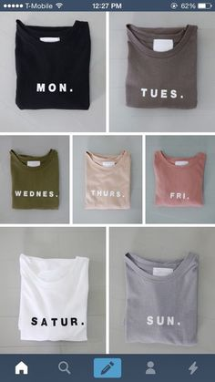 t-shirt lazy day graphic tee shirt grey pink blue beige black white peach dark light hipster boho cute girly pale asthetic monday tuesday wednesday thursday friday saturday sunday weekdays colorful days weekday neutral nude weekend minimalist simply tumblr weekday print cute shirt top tumblr clothes gift ideas everyday green tan basic pastel day of the week week set everyday tee