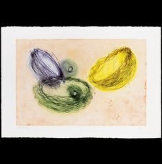 """The Classic Five By Dale Chihuly Fourteen-color intaglio 30-1/4""""H x 43-3/4""""W (deckled-edge paper size); 23-3/4""""H x 35-3/4""""W (image size) Edition of 50; signed and numbered in pencil Printed by Sidereal Fine Art Press, Seattle, WA, 2007/2008"""