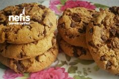 Damla Çikolatalı Kurabiye (Cookies) Tarifi Homemade Beauty Products, Desert Recipes, Biscuits, Sweet Tooth, Deserts, Muffin, Food And Drink, Cooking Recipes, Breakfast