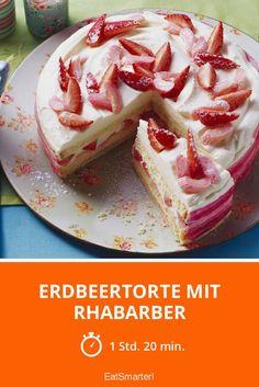 Erdbeertorte mit Rhabarber - smarter - Zeit: 1 Std. 20 Min. | eatsmarter.de