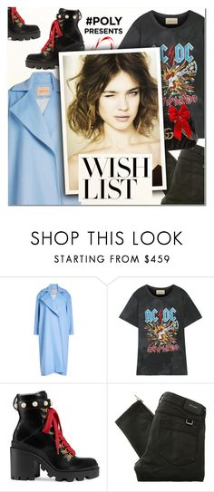 """""""#PolyPresents: Wish List II"""" by vampirella24 ❤ liked on Polyvore featuring Maggie Marilyn, Gucci, Belstaff, gucci, rockband, contestentry and polyPresents"""