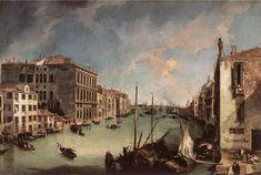Tableaux sur toile, reproduction de Canaletto, Grand canal regardant à l'est du Campo san Vio