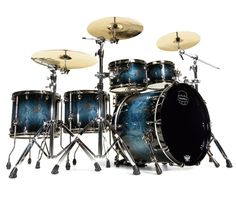 Mapex Saturn V Sound Wave Twin 5-Piece Drum Kit in Deep Water Maple Burl – Drum Shop UK