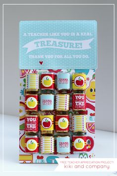 Free Printable Teacher Appreciation Project at Kiki and Company #freeprintable
