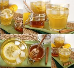"""Honey Lemon Cinnamon """"Weightloss Drink""""; 1/2 Tbs cinnamon, spoonful of honey, fresh lemon juice from 1 lemon, 300 ml water. Boil water; let cool. Only add ingredients to cold water or they will lose their properties.  In cold water; add cinnamon & honey. Let sit 15-20 min. Before drinking add fresh lemon juice. Drink half in the morning and the other half before bedtime.  Drink daily for weight loss.  - See more at…"""