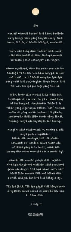 Reminder Quotes, Self Reminder, Story Quotes, Me Quotes, Sabar Quotes, Islamic Quotes Wallpaper, Best Friendship Quotes, Postive Quotes, Quotes Indonesia