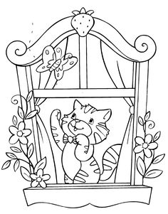 Cat Coloring Pages - Bing Images