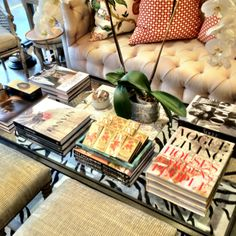 Coffee table books. My favorite accessory. Constantly looking at my collection.