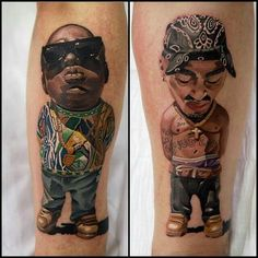 Love the biggie tatt, tupac not Di much doesn't convey him to me