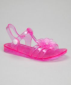 This Fuchsia Flower Jelly Sandal by Chatties is perfect! #zulilyfinds