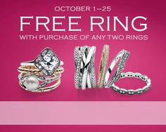 Pandora ring event ends this weekend. Buy two get one free #Pandora #Jewellery #Orangeville see store for details