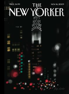 The New Yorker. Novembre 16, 2009 The (Portuguese) artist Jorge Colombo finger-painted this week's cover on an iPad: nyr.kr/1wQ9kmR
