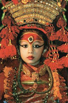 Kumari, living goddess in Kathmandu- Nepal.