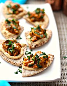 Slow Cooker Moroccan Chicken Pita Bites   18 Easy Slow Cooker Snacks That Will Feed A Crowd