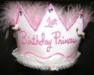 1st Birthday Princess Pink Crown