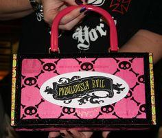 Fabulously Evil cigar box purse. $25.00, via Etsy.