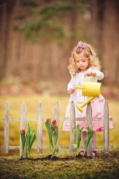 Little girl watering the flowers gorgeous little lady absolutely a beautiful photography! absolutely beautiful flowers gorgeous little watering easter photography ideas Photography Mini Sessions, Spring Photography, Children Photography, Photo Sessions, Little Girl Photography, Spring Pictures, Easter Pictures, Toddler Photos, Baby Photos