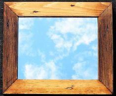 Two Tone Wood Stain Rustic Mirror, Stained Vanity Mirror, Distressed Pine Lodge Mirror, Golden Oak, Espresso, Black Cherry, Ebony, Red Oak by EthelsBarn on Etsy