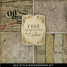 Far Far Hill: Freebies Old Style Backgrounds Kit