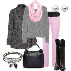 Denim de Colores, created by outfits-de-moda2 on Polyvore