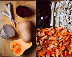 zimní krémová polévka dýně, celer, petržel, červená řepa