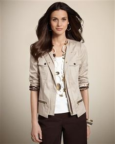 Cute Jacket... Chico's has great clothes and jewelry