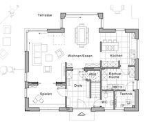 Edition 425 WOHNIDEE-Haus Grundriss EG von Viebrockhaus