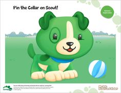 LeapFrog Pin the Collar on Scout- Here's a classic party game that's sure to get tails wagging.