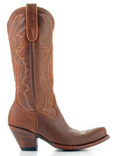 Vintage style with a high heel = perfection in a cowboy boot!
