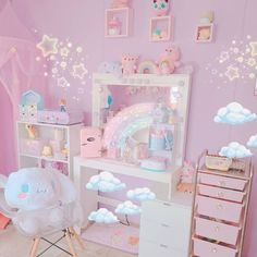 Gamer Bedroom, Room Ideas Bedroom, Cute Room Ideas, Cute Room Decor, Pastel Room, Pink Room, Kawaii Bedroom, Otaku Room, Gaming Room Setup