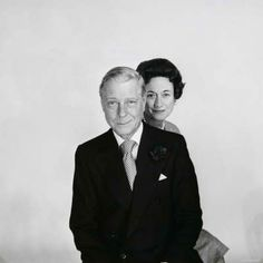 Duke and Duchess of Windsor. I love this picture of him.  You can just tell they are do in love, even without touching or saying a word.