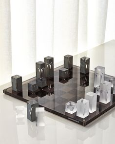 Shop Acrylic Chess Set from Jonathan Adler at Horchow, where you'll find new lower shipping on hundreds of home furnishings and gifts. Game Room Furniture, Hooker Furniture, Furniture Design, Chess Pieces, Game Pieces, Jonathan Adler, Chess Set Unique, Acrylic Board, Home Living