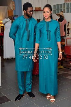 Tuniques Couples African Outfits, African Wear Dresses, Latest African Fashion Dresses, Couple Outfits, African Print Fashion, Africa Fashion, African Attire, Traditional African Clothing, African Clothing For Men