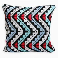 Multicolored Guadalupe Pillow by Inigo Elizalde