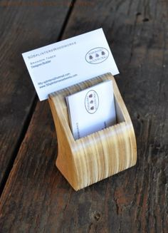 Reclaimed Business Card Holder, by 50SplintersWoodworks on Etsy https://www.etsy.com/listing/80055254/reclaimed-business-card-holder
