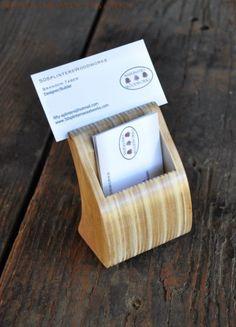 Reclaimed Business Card Holder, by 50SplintersWoodworks on Etsy https://www.etsy.com/listing/80055254/reclaimed-business-card-holder