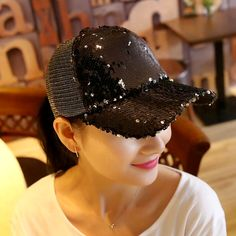2017 1Piece Baseball Cap Women's Adjustable Cap Casual leisure hat Reflective Sequins Fashion Snapback Summer Fall hat casquette-in Baseball Caps from Women's Clothing & Accessories on Aliexpress.com | Alibaba Group