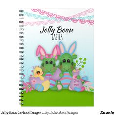 Shop Zazzle's Jelly Bean notebooks. Stock up for personal use or purchase in bulk for your whole office. Custom Journals, Journal Notebook, Jelly Beans, Office Gifts, Easter Bunny, Garland, Dragon, Notebooks, Addiction