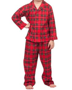 Boys Red Plaid Flannel Christmas Pajamas Toddler Boys 4T  - Click image twice for more info - See a larger selection of girls jumpsuit at http://girlsdressgallery.com/product-category/girls-jumpsuit/- girl, girls, little girls, kids, kid, girls fashion, kids fashion, gift ideas, over all for girls, jumpers, jumpsuit, romper
