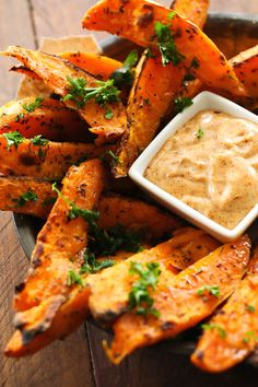 All the yummy noms : verticalfood:   Sweet Potato Wedges Honey Chipotle...