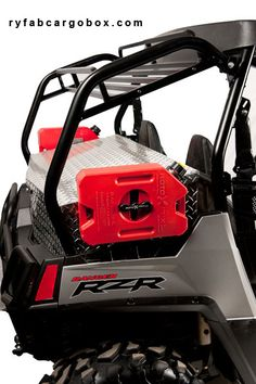 SXS Headquarters stocks a complete line of aftermarket UTV parts and accessories. For more information about Polaris RZR Parts, Polaris RZR Accessories, Can Am Maveric Parts, please visit http://sxsheadquarters.com. I gotta get me some rotopax gas cans for the long rides, and the diamond plate storage box is pretty bad as as well.