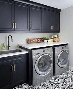 Laundry room signs Laundry room makeover Farmhouse laundry room Diy laundry room… Laundry room s Diy Laundry, Room Diy, Room Storage Diy, Farmhouse Laundry Room, Room Makeover, Modern Laundry Rooms