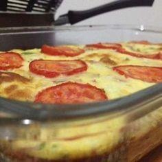 Omelete de forno com batata inglesa