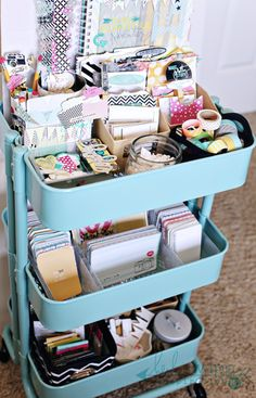 Raskog cart to organize Heidi Swapp products, washi tape, Project Life cards, Smash products etc. to keep my desk clear.